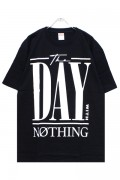 PassCode THE DAY WITH NOTHING TEE(BLACK)