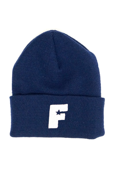 FAMOUS STARS AND STRAPS (フェイマス・スターズ・アンド・ストラップス) STANDARD ISSUE ROLL BEANIE NAVY