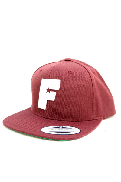 FAMOUS STARS AND STRAPS STANDARD ISSUE SNAPBACK BURGUNDY