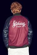 Subciety (サブサエティ) STADIUM JACKET-Primal- BURGUNDY