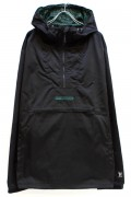 TOY MACHINE TMF18JK16 EF LOGO ANORAK PARKA - BLACK