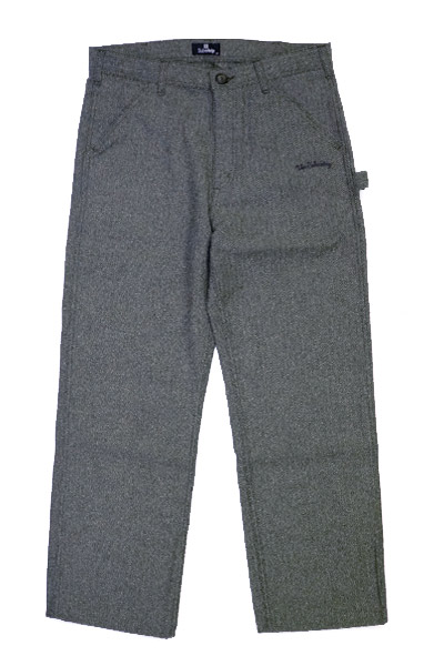 Subciety (サブサエティ) HERRINGBONE PAINTER PANTS BLACK