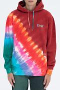 RIPNDIP OG Prisma Embroidered Hoodie (Red Tie Dye)