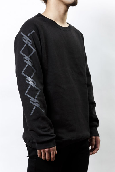 PassCode CREW NECK SWEAT (BLACK)『CHAIN』