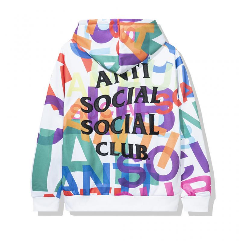 Anti Social Social Club Headrush All Over White Hoodie