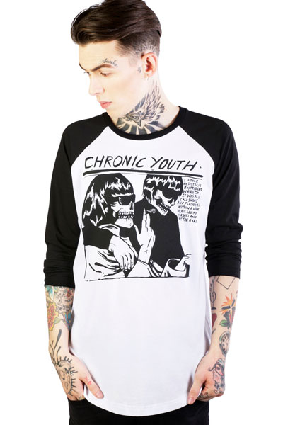 DISTURBIA CLOTHING Chronic Youth Raglan T-Shirt