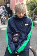 TOY MACHINE TMF18JK17 FIST LOGO ANORAK PARKA - NAVY