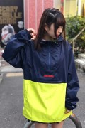 TOY MACHINE TMF18JK16 EF LOGO ANORAK PARKA - NAVY / GREEN