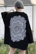 Zephyren(ゼファレン)DOLMAN BIG TEE L/S - Kaleidoscope - BLACK