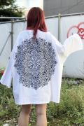 Zephyren(ゼファレン)DOLMAN BIG TEE L/S - Kaleidoscope - WHITE