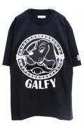 GALFY Applique T-shirt BLACK