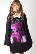 TRAVAS TOKYO ANGEL & DEVIL BEAR COLLARED BIG Tシャツ B(悪魔)