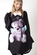 TRAVAS TOKYO ANGEL & DEVIL BEAR COLLARED BIG Tシャツ A(天使)