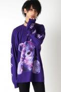 TRAVAS TOKYO FURRY BEAR ビッグロングTシャツ Purple