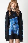 TRAVAS TOKYO FURRY BEAR ビッグロングTシャツ Black