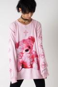 TRAVAS TOKYO FURRY BEAR ビッグロングTシャツ Pink