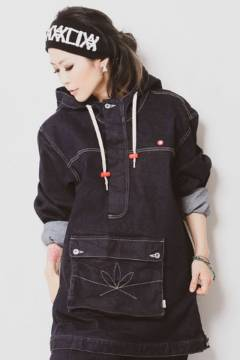 ANIMALIA AN20SP-JK01 APACHE-Stretch Denim Anorak INDIGO