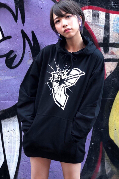 FAMOUS STARS AND STRAPS SHATTER BOH PULLOVER HOODY BLACK
