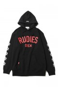 RUDIE'S BRIGHT PHAT HOOD SWEAT BLACK