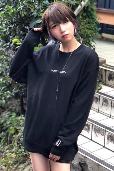 SLEEPING TABLET I CAN'T SLEEP CREW SWEAT BLACK