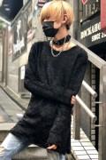 CIVARIZE【シヴァーライズ】Selfish フェザープルオーバーニットBLK(ブラック)