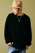 MUSIC SAVED MY LIFE (MSML) M101-01K5-KN01 ZIP KNIT BLACK
