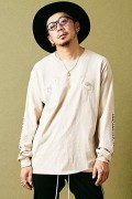 MUSIC SAVED MY LIFE M101-01K5-CL01 LONG SLEEVE TEE BEIGE