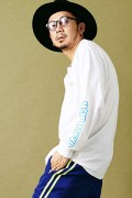 MUSIC SAVED MY LIFE M101-01K5-CL01 LONG SLEEVE TEE WHITE