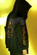 ROLLING CRADLE SHOUT HOODED BOMBER JACKET / BLACK