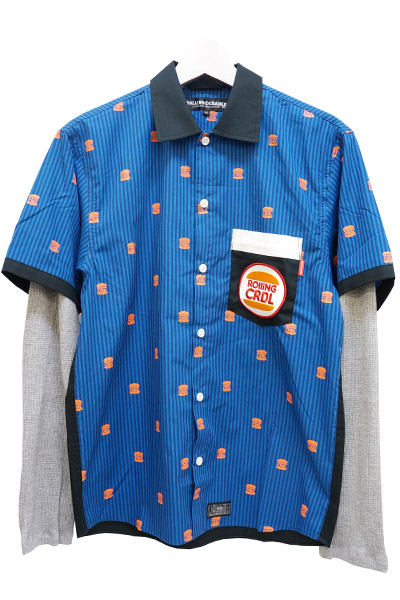 ROLLING CRADLE BURGER SHIRT / Navy-Black