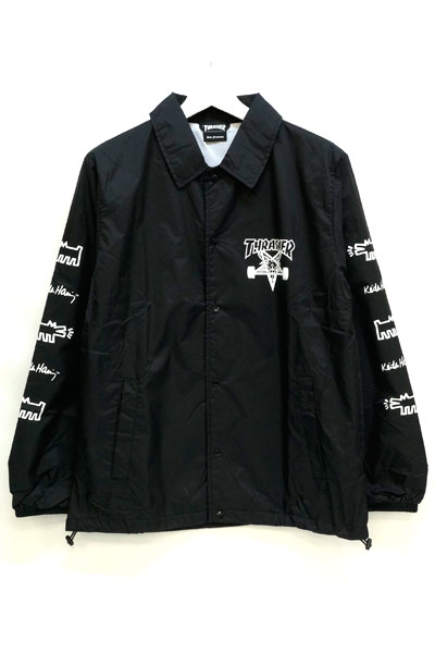 THRASHER THKH-HD16 COACH JKT BLACK