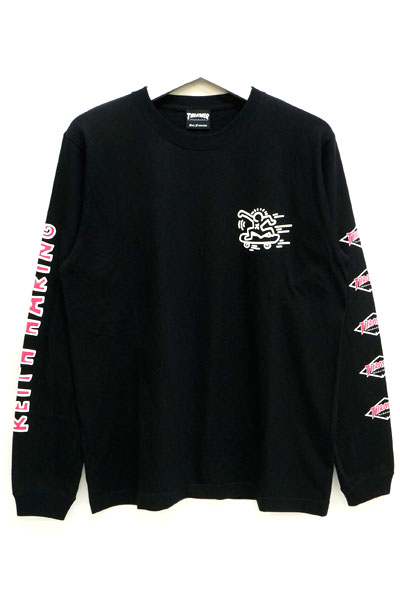 THRASHER THKH-HD12 L/S TEE BLACK