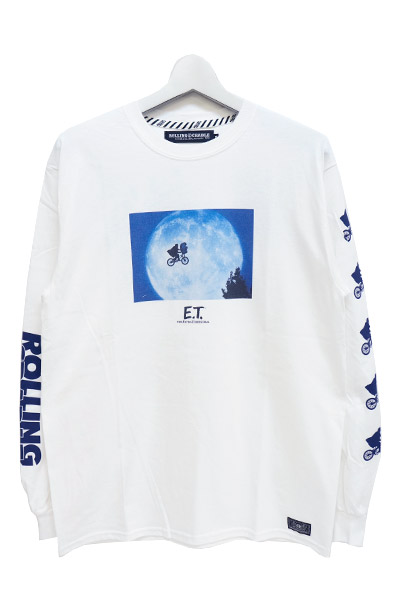 ROLLING CRADLE RCxE.T. MOON LIGHT LONG T-SHIRT / White