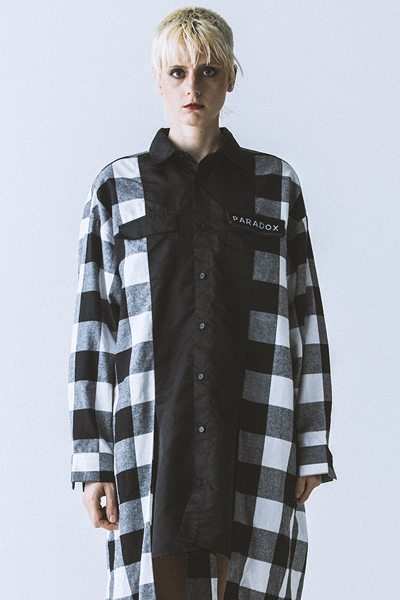PARADOX - SUPER BIG SHIRTS (BLK-CHECK)