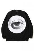 SILLENT FROM ME HOLE -Crew Sweat- BLACK