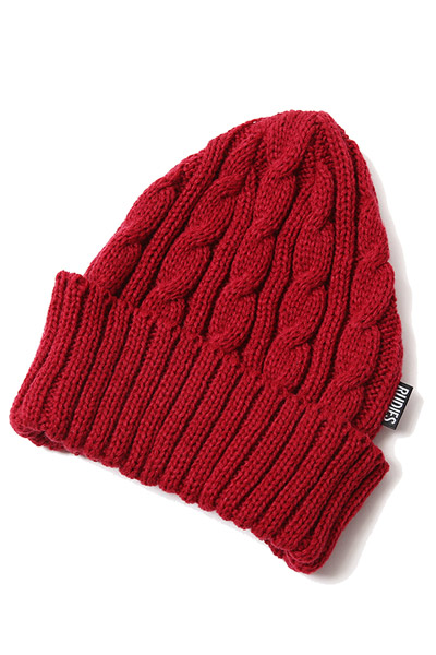 RUDIE'S HEAD GEAR WASTE CABLE KNITCAP RED