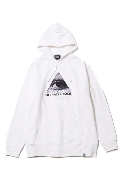 SILLENT FROM ME KEEK -Pullover- WHITE