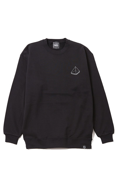 SILLENT FROM ME PYRAMID -Crew Sweat- BLACK