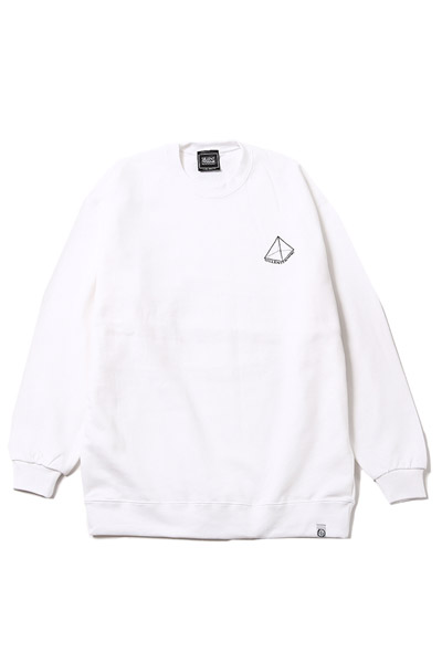 SILLENT FROM ME PYRAMID -Crew Sweat- WHITE
