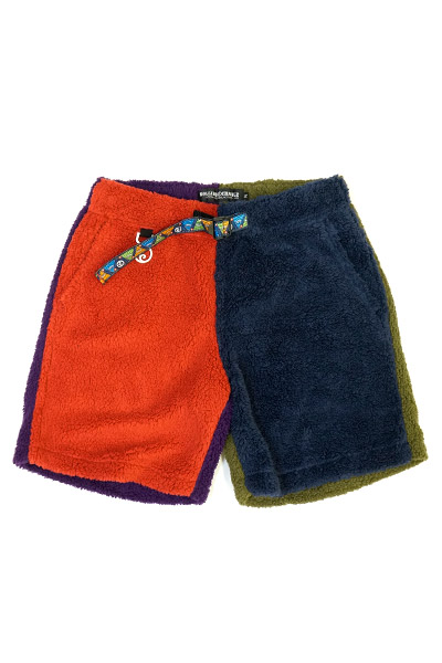 ROLLING CRADLE CRAZY COLOR BOA SHORTS / Red-Navy