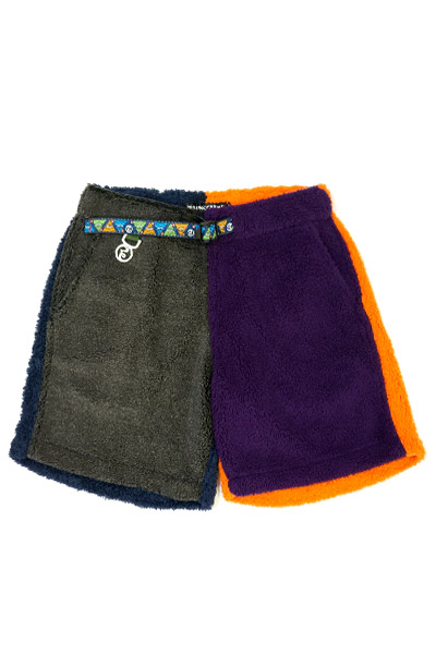ROLLING CRADLE CRAZY COLOR BOA SHORTS / Charcoal-Purple