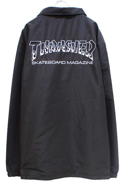 THRASHER TH8962 BBQ COACH JACKET BLACK/BLACK
