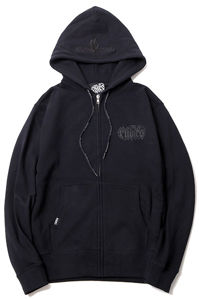 RUDIE'S SPARK ZIPHOOD SWEAT BLACK/BLACK