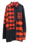 VIRGO VG-SH-190 CONFUSION CHECK MIDDLE SHIRTS RED