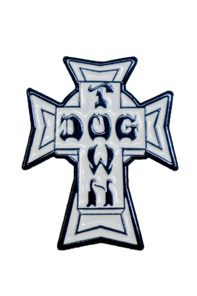 DOGTOWN 2ACDOPNVC CROSS LOGO VINTAGE PIN