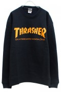 THRASHER TH8401 MAG LOGO SWEAT BLACK/ORANGE