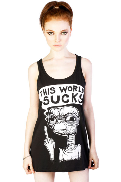 DISTURBIA CLOTHING This World Sucks Vest Dress