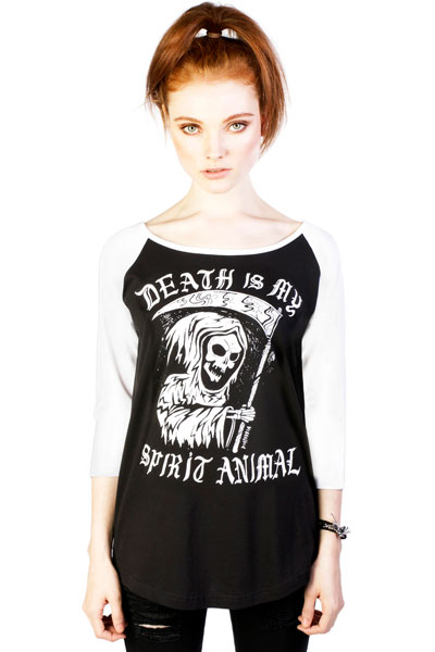 DISTURBIA CLOTHING Spirit Anima Ladiesl Raglan