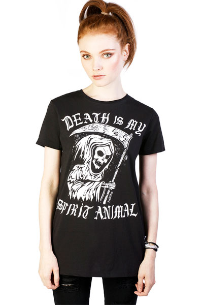 DISTURBIA CLOTHING Spirit Animal Ladies Tee