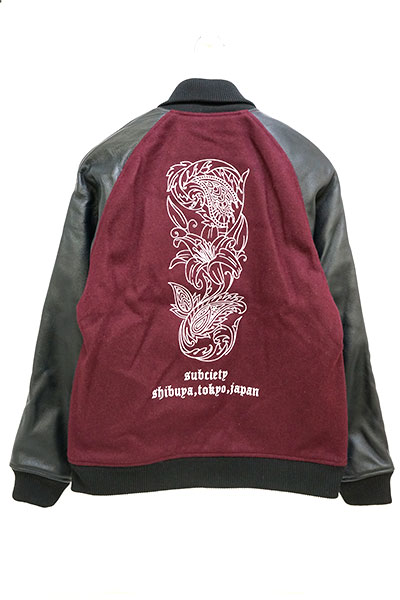 Subciety (サブサエティ) STADIUM JACKET-lily- BURGUNDY